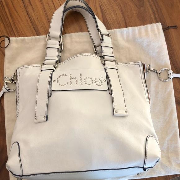 689701af Chloe white handbag